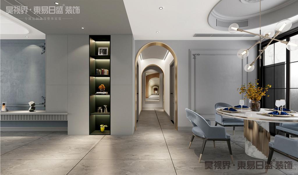 简约俐落的质材铺叙与敞明大方的格局尺度,是轻奢风定调的设计居宅中,不可或缺的重要元素。