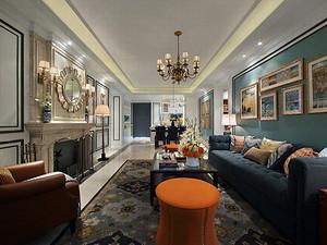 圣兰菲诺-四居室180平米-美式装修风格案例赏析