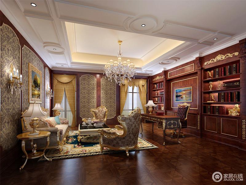 书房从陈列到规划,从色调到材质,都表现出雅静的特征。