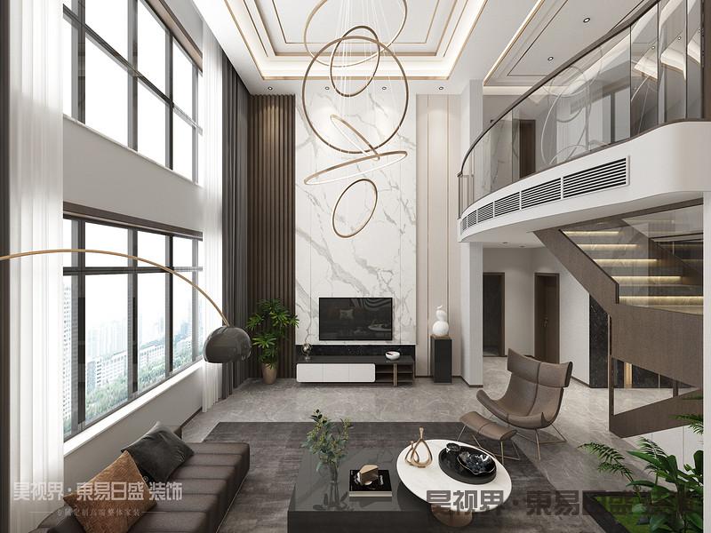 客厅设计体现了现代生活快节奏、简约和实用,但又富有朝气的生活特征,没有过分的装饰,从功能出发,讲究生活的舒适、空间结构的明确美观,强调外观的简洁、大方。