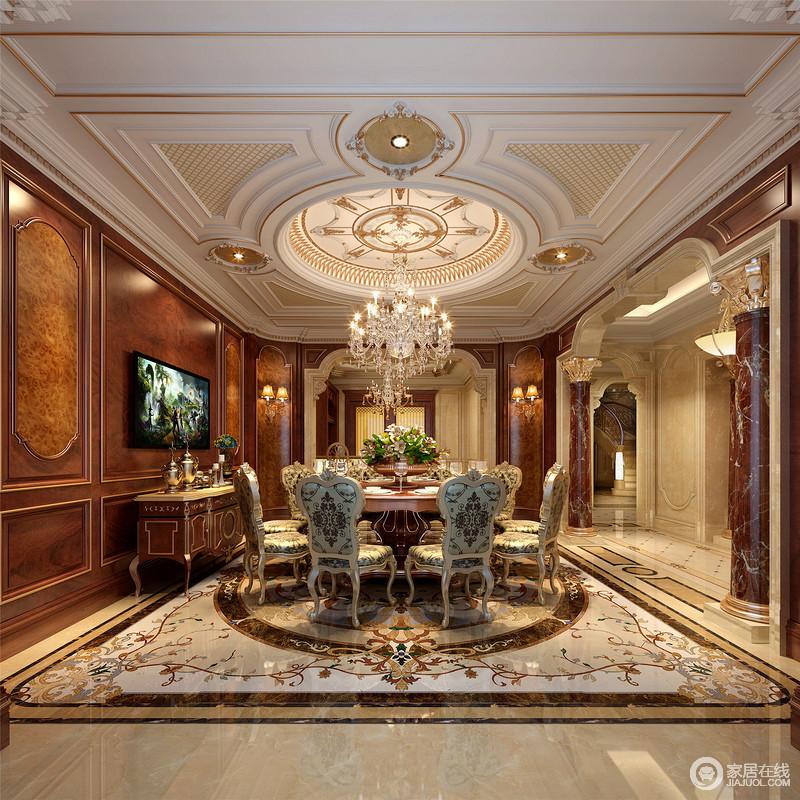 古朴家居让人体会到一种怀旧感,通过餐厅看客厅,也是相得益彰。