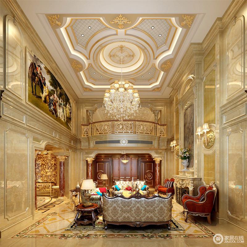 欧式的居室有的不只是豪华大气,更多的是惬意和浪漫。通过完美的典线,精益求精的细节处理。