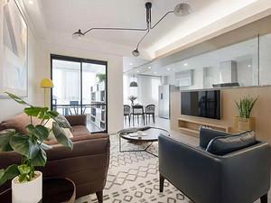 都市时空112㎡清新北欧3室2厅风格效果图