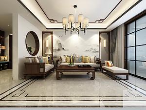 白鹭金岸-四居室200平米-中式风格案例赏析