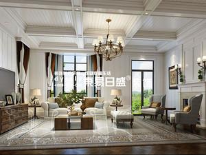 临沂别墅装修效果图鲁商·凤凰城_美式风格