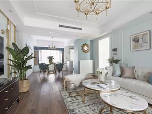 140㎡轻奢美式3室2厅,用艺术美学诠释家的温暖