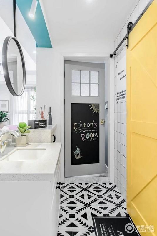 卫生间很巧妙的做了不一样的干湿分离,布局合理又很实用。