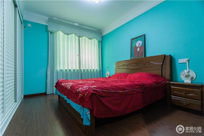 卧室风情万种,不乏轻松浪漫的感觉