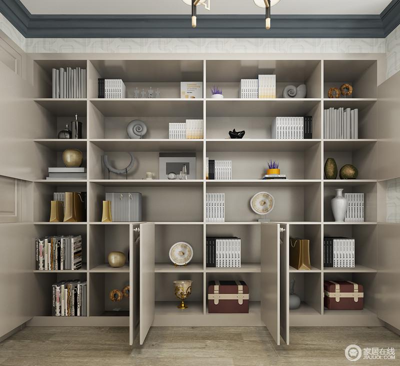 书柜定制得设计让生活收纳也变得更有归置感,不用在担心没地方储物,或者乱放了。
