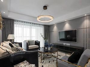 143㎡輕奢美式4室2廳,高級灰營造優雅時尚感