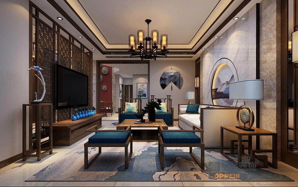 润英美庐-中式风格-客厅