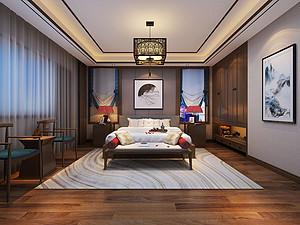中式风格卧室贝博官网登录效果图