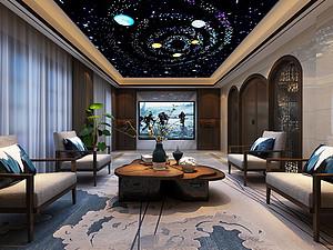 中式风格客厅贝博官网登录效果图