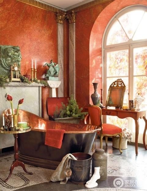 14款波希米亚风格卫生间 出彩的装修空间